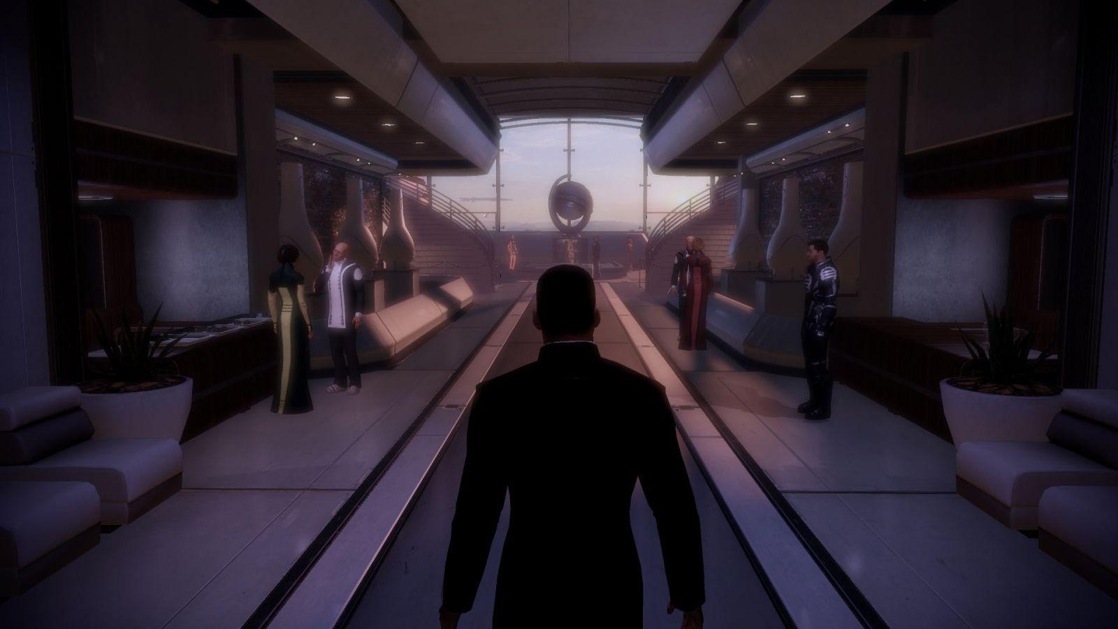 Un inedito Shepard in abito da sera.