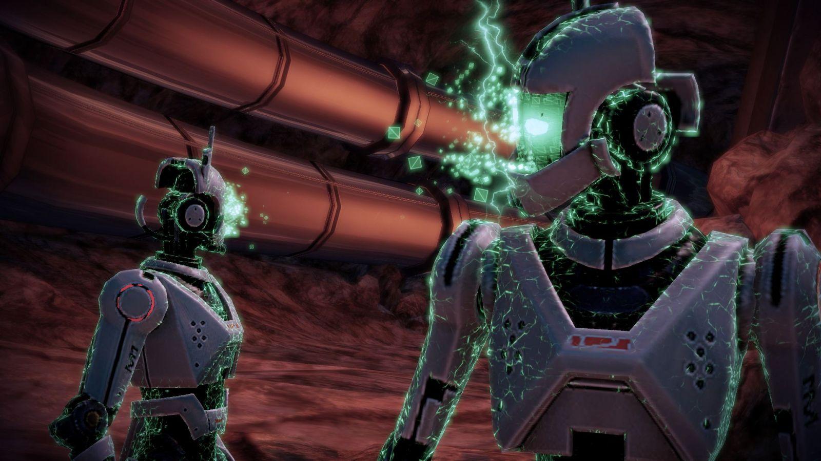 Due androidi controllati dalla IA.