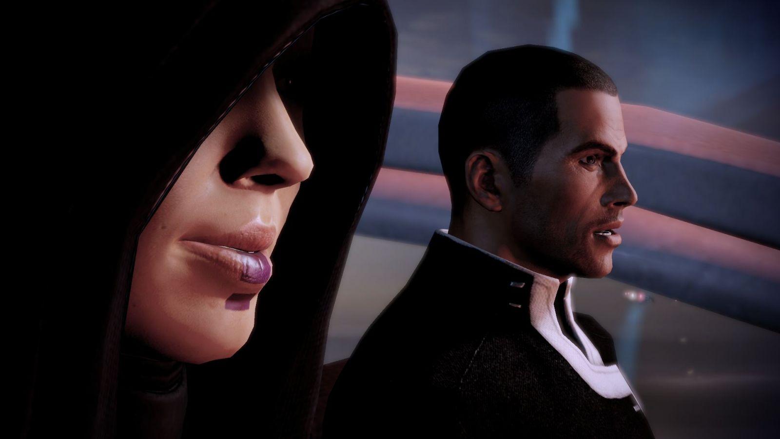 Kasumi e Shepard.