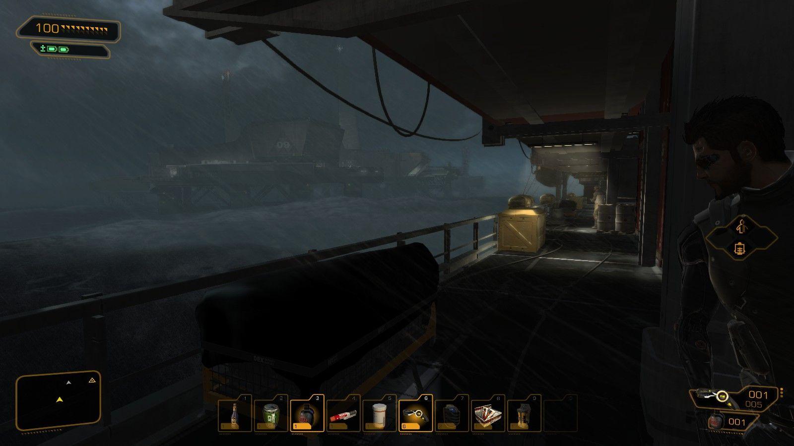 L'ambientazione è suggestiva e ricorda il livello iniziale di Metal Gear Solid 2.