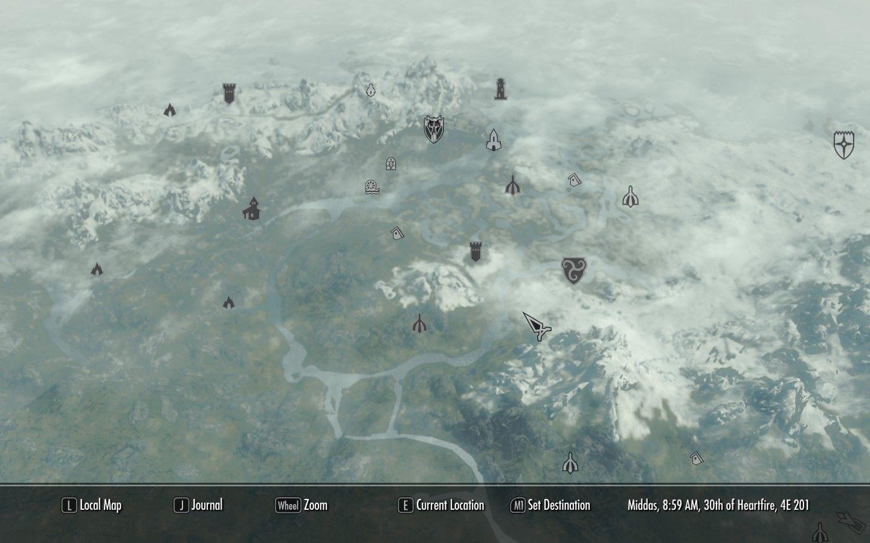 La mappa di gioco, quella visibile nell'immagine è solo una parte.