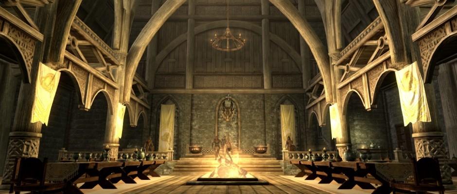 La sala dello Jarl di Whiterun.