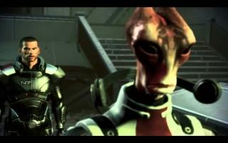 Shepard e Mordin discutono sulla Genofagia.