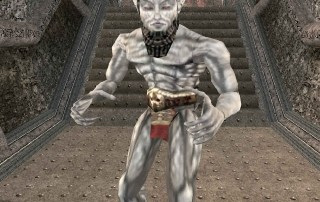 "Un Ash Vampire (Vampiro delle Ceneri) in ""TES III: Morrowind"""
