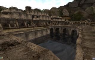 "Una veduta di Balmora in ""TES III: Morrowind"""