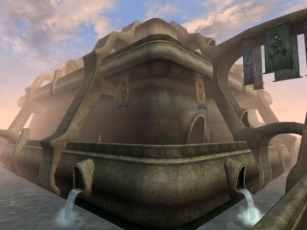 "Il cantone Redoran a Vivec in ""TES III: Morrowind"