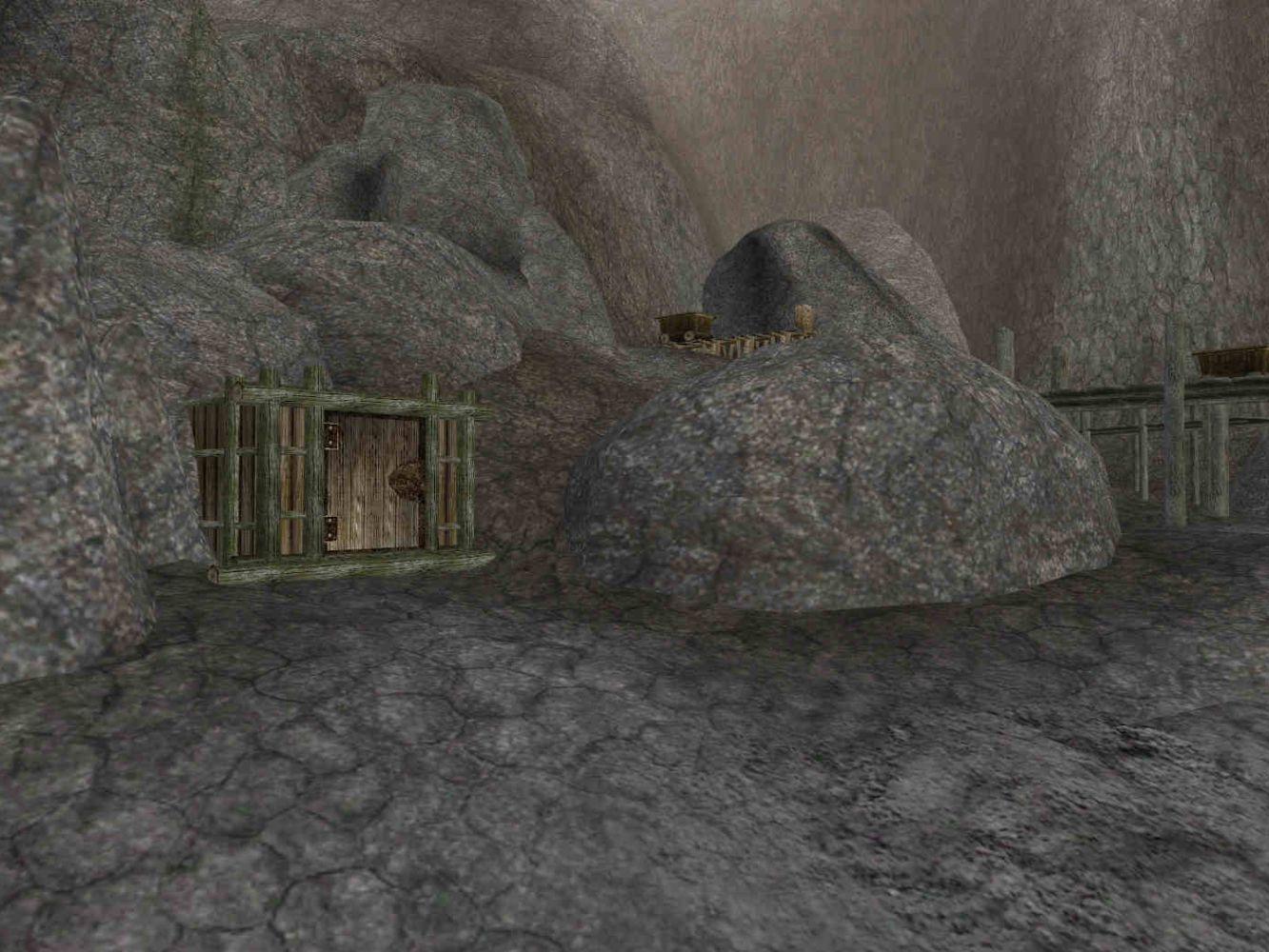 """L'ingresso alle miniere d'ebano di Caldera in """"TES III: Morrowind"""""""