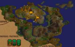 """La mappa di Morrowind in """"TES III: Arena"""""""