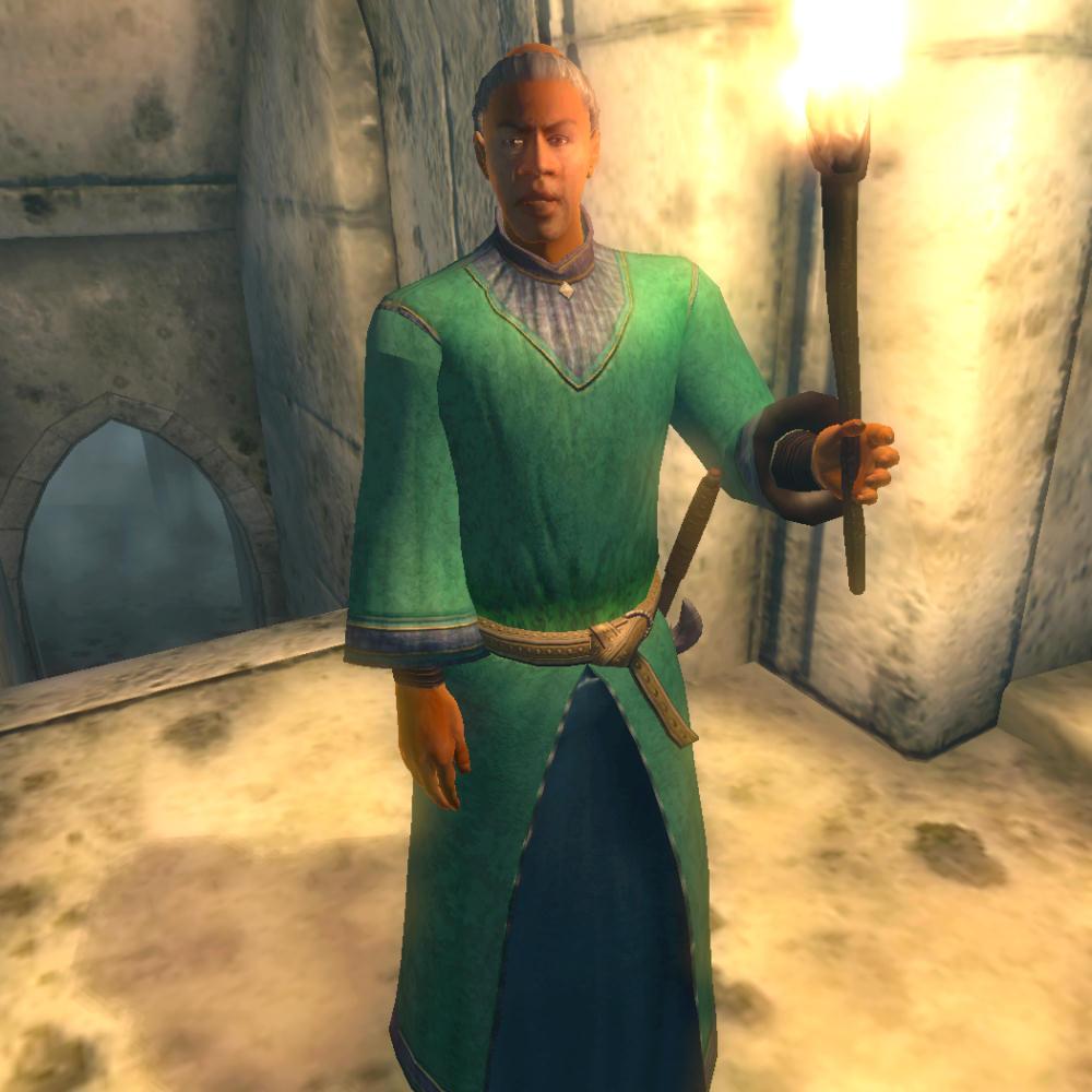 """Un Sacerdote Redguard di  Arkay in """"TES IV: Oblivion"""""""